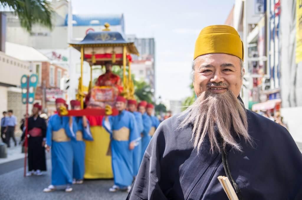 首里城祭的遊行相當盛大,可以一睹琉球王國的風采
