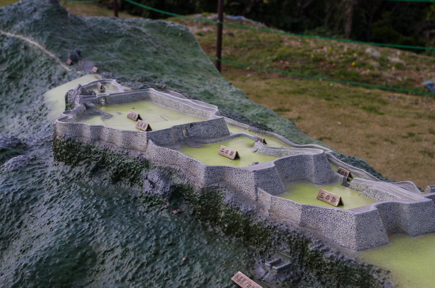 中城城跡模型