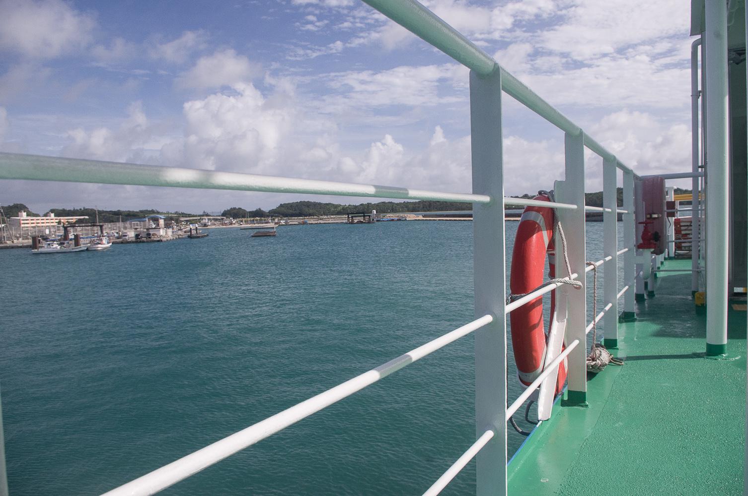 搭船前往津堅島