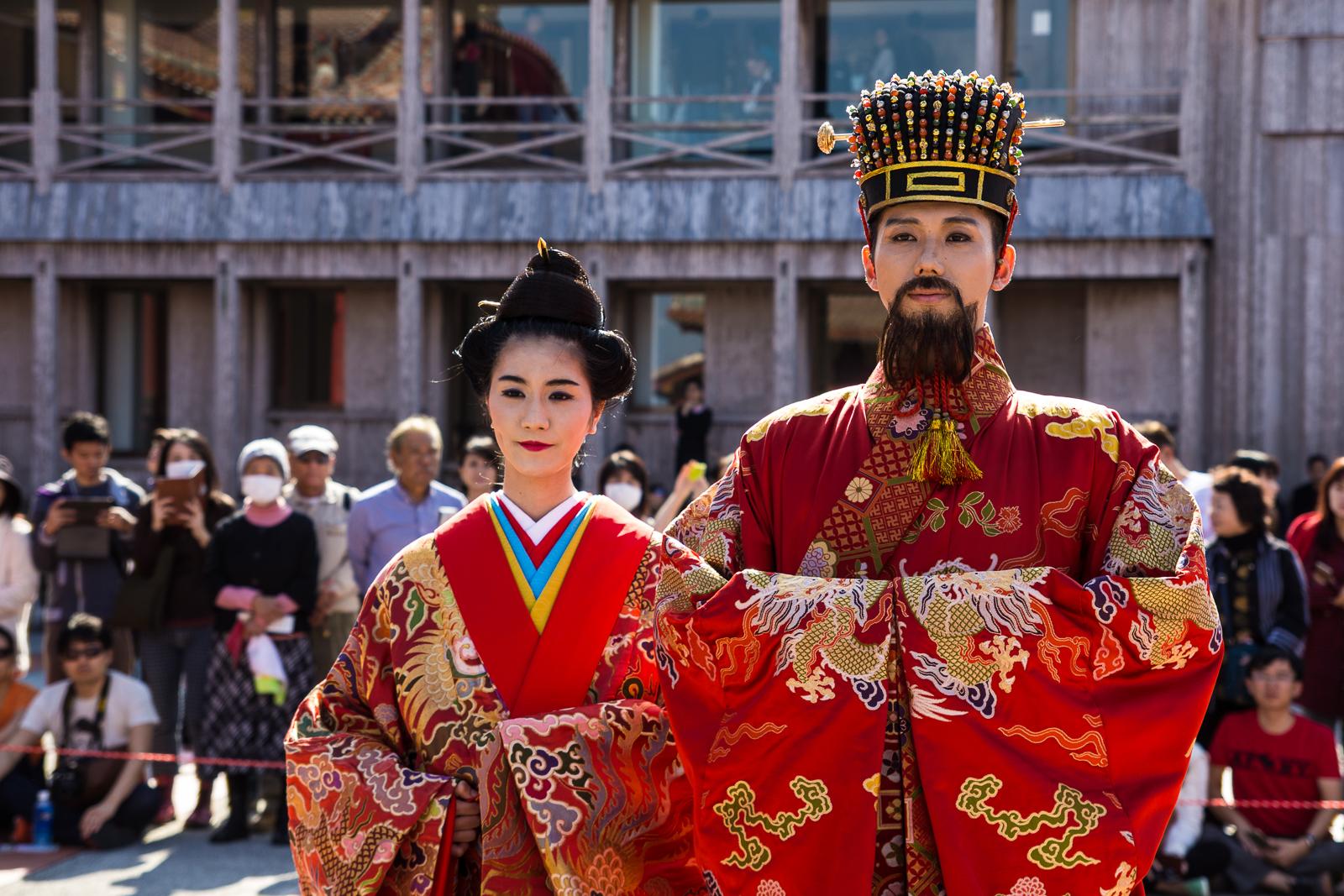 首里城新春之宴的琉球國王和皇后