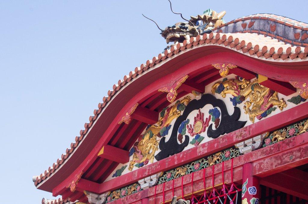 首里城的屋簷雕飾