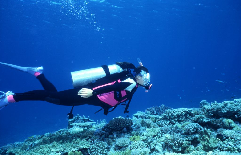 沖繩沙灘深潛難度比較低