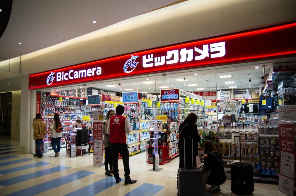 Bic Camera沖繩那霸機場店門口