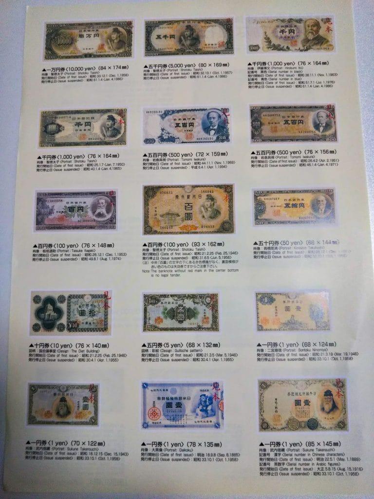 日本政府發行過的紙鈔