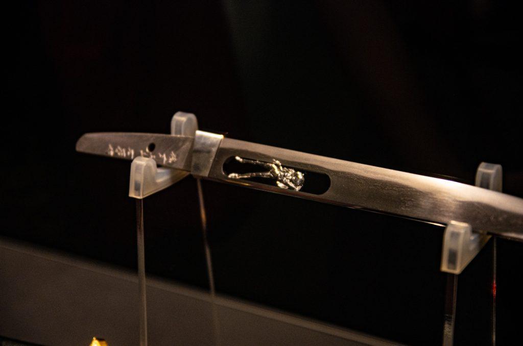 明日香專用日本短刀刀身刻有明日香的樣子