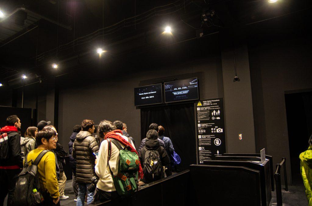 teamLab Borderless數位藝術美術館入口