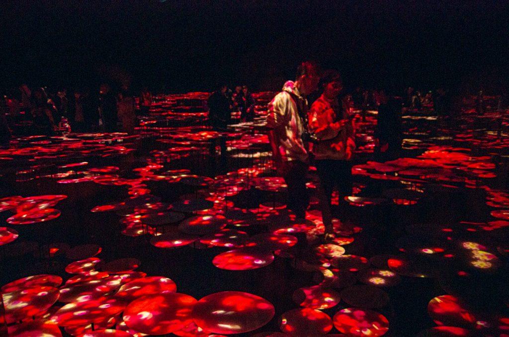 teamLab Borderless數位藝術美術館蘑菇飛碟房間