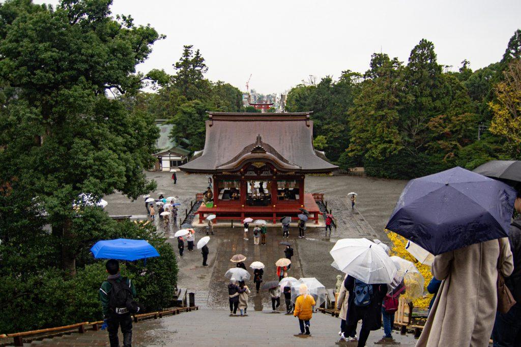 鶴崗八幡宮景色
