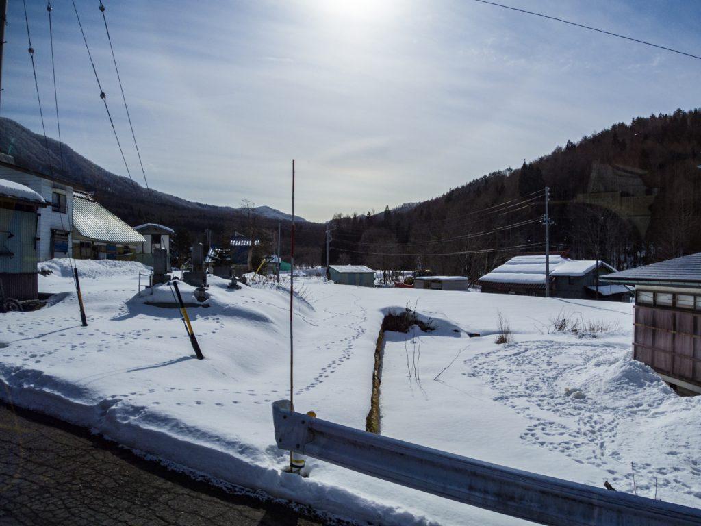 北志賀高原雪景