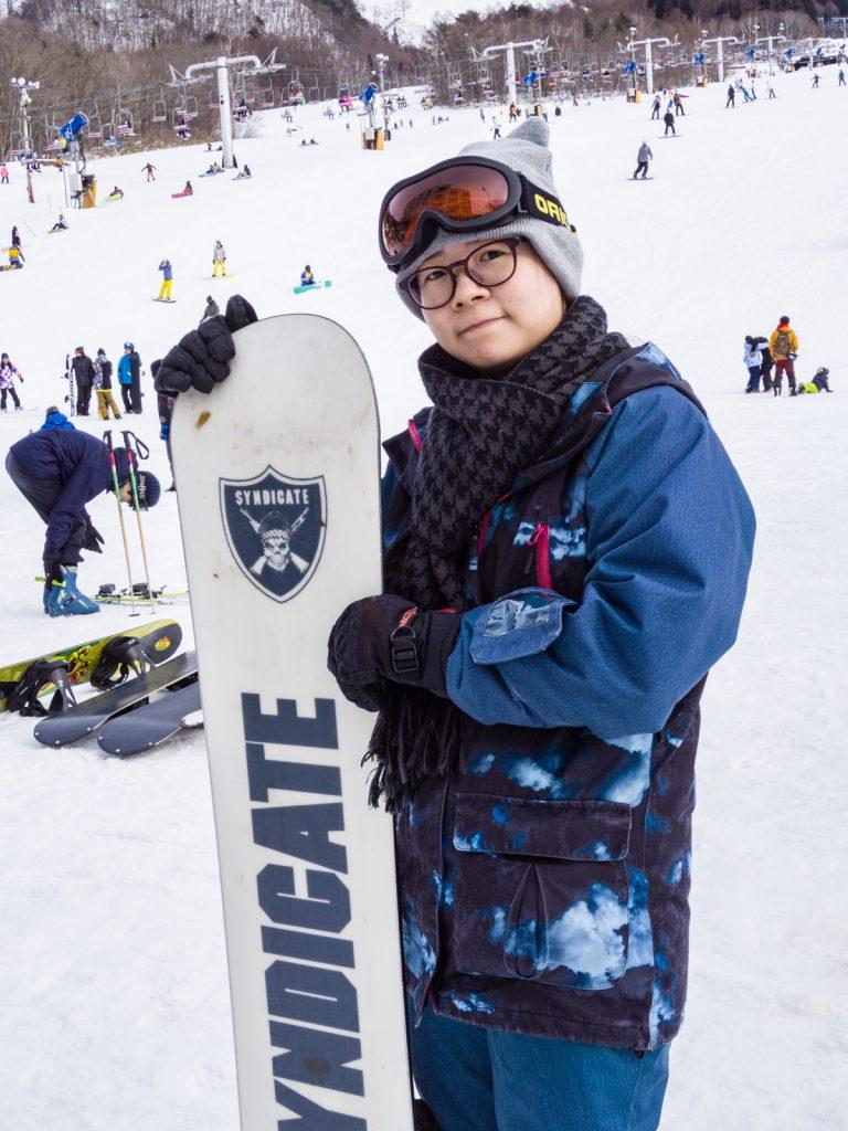 女生滑雪裝備