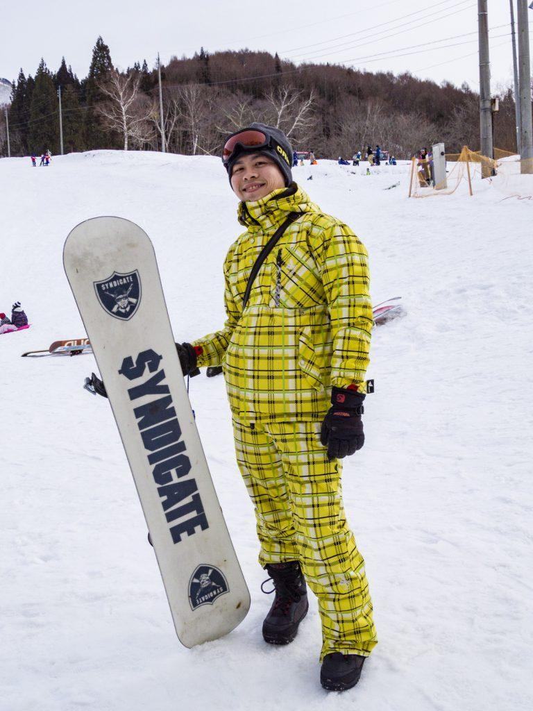 男生滑雪裝備