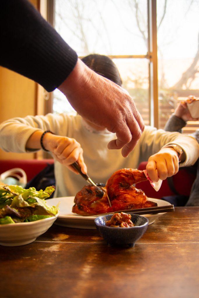 佐久手扒雞吃法