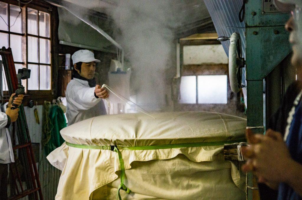 日本酒製法蒸米