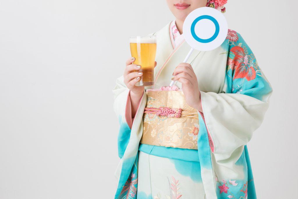 可以飲酒的日本新成人