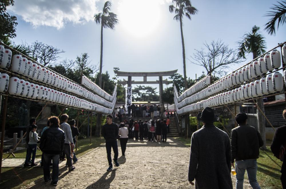 新春期間的護國神社